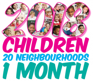 2018 children, 20 neighbourhoods, 1 month!