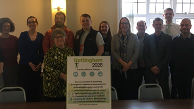 Nottingham Green Partnership endorse Nottingham's ambition to become the UK's first carbon neutral city