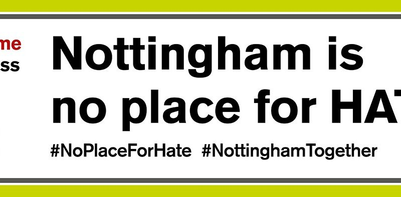 Nottingham is No Place for Hate – Summit – Friday 19 October 11am – 1pm